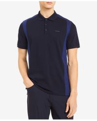 CALVIN KLEIN 205W39NYC - Liquid Touch Pieced Colorblocked Polo - Lyst