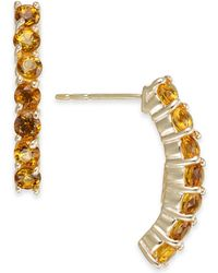 Macy's - Citrine Curved Drop Earrings (1-1/8 Ct. T.w.) In 14k Gold - Lyst