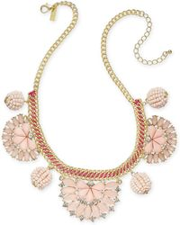 "INC International Concepts - I.n.c. Gold-tone Stone & Crystal Statement Necklace, 18"" + 3"" Extender, Created For Macy's - Lyst"
