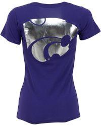MYU Apparel - Women's Short-sleeve Kansas State Wildcats V-neck T-shirt - Lyst