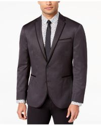 Kenneth Cole Reaction - Slim-fit Stretch Silver/black Mini-grid Dinner Jacket - Lyst