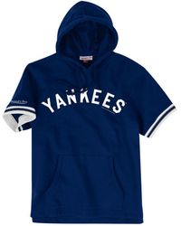 584b169e8 Mitchell   Ness - New York Yankees French Terry Short Sleeve Hoodie - Lyst