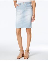 Lee Platinum - Coleman Denim Pencil Skirt - Lyst