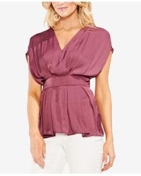 Vince Camuto - Cinched V-neck Top - Lyst