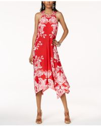 INC International Concepts - I.n.c. Petite Printed Handkerchief-hem Halter Dress, Created For Macy's - Lyst
