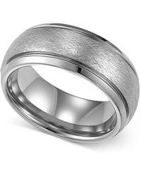 Macy's - Men's Tungsten Ring, Wedding Band - Lyst