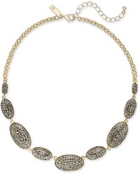 INC International Concepts - Gold-tone Pavé Oval Statement Necklace - Lyst