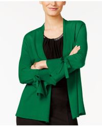 Alfani - Petite Tie-sleeve Cardigan, Created For Macy's - Lyst