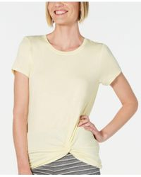 Alfani - Ultra Soft Twist-front Pajama Top, Created For Macy's - Lyst