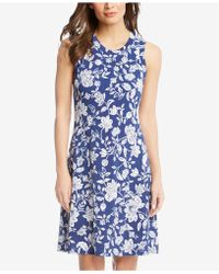 Karen Kane - Sleeveless Printed Dress - Lyst