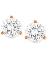 Swarovski - Gold-tone Crystal Stud Earrings - Lyst