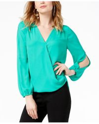 INC International Concepts - I.n.c. Split-sleeve Top, Created For Macy's - Lyst