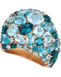 Le Vian - Strawberry® & Nudetm Blue Topaz (10-7/8 Ct. T.w.) & Diamond (1/8 Ct. T.w.) Ring In 14k Rose Gold - Lyst