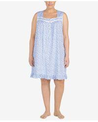 Eileen West - Plus Size Ruffle-hem Cotton Nightgown - Lyst