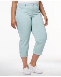 Style & Co. - Plus Size Cuffed Capri Jeans - Lyst