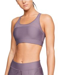0231132d3431a Lyst - Under Armour Women s Ua Seamless Plunge Sports Bra in Pink