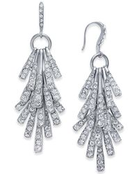 INC International Concepts - Silver-tone Sticks And Stones Pavé Shaky Drop Earrings - Lyst