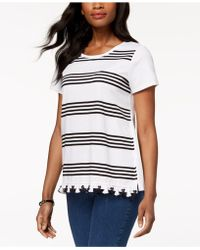 Charter Club - Tassel-trim T-shirt, Created For Macy's - Lyst