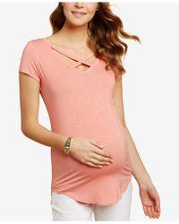 427239580b468 Jessica Simpson - Maternity Cross-back V-neck Top - Lyst