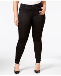 Celebrity Pink - Plus Size Burnt Red Wash Skinny Jeans - Lyst