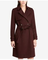 DKNY - Belted Double-breasted Trench Coat, Created For Macy's - Lyst