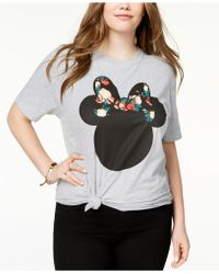 Disney - Plus Size Cotton Minnie Mouse Graphic-print T-shirt - Lyst