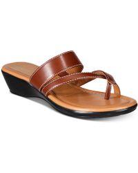 Callisto - Barnaget Slide Thong Wedge Sandals, Created For Macy's - Lyst