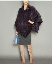 The Fur Vault - Knitted Mink Fur Fringe Poncho - Lyst