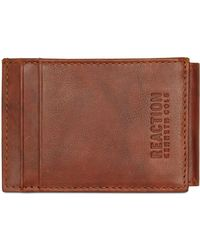 Kenneth Cole Reaction - Crunch Magnetic Front-pocket Leather Wallet - Lyst