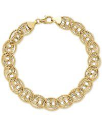 Macy's - Multi-ring Textured Chain Link Bracelet In 10k Gold - Lyst
