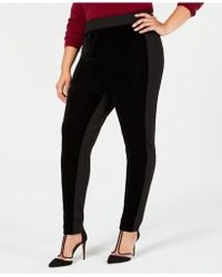 INC International Concepts - I.n.c. Plus Size Velvet & Stretch Leggings, Created For Macy's - Lyst