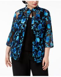 Alex Evenings - Plus Size Embroidered Jacket & Top - Lyst