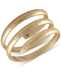 RACHEL Rachel Roy - Gold-tone Spiral Cuff Bracelet - Lyst