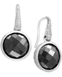 Effy Collection - Hematite (12mm) Drop Earrings In Sterling Silver - Lyst