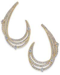 Danori - Crystal & Pavé Swirl Drop Earrings, Created For Macy's - Lyst