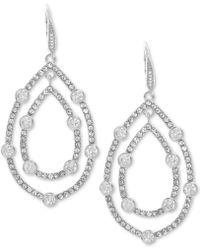 Anne Klein - Pavé Orbital Drop Earrings - Lyst