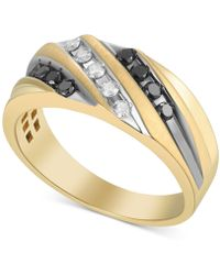 Macy's - Diamond Diagonal Ring (1/2 Ct. T.w.) In 10k Gold - Lyst