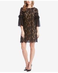 Karen Kane - Ruffle-sleeve Lace Dress - Lyst