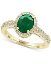 Effy Collection - Emerald (1-1/8 Ct. T.w.) And Diamond (1/3 Ct. T.w.) Ring In 14k Gold - Lyst
