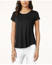 Alfani - Petite Short-sleeve High-low Tee - Lyst