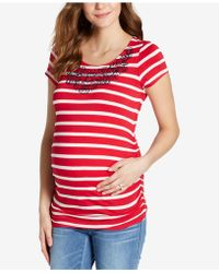 Jessica Simpson - Maternity Embroidered T-shirt - Lyst
