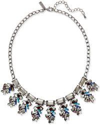 INC International Concepts - Hematite-tone Multi-stone Statement Necklace - Lyst