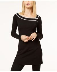 INC International Concepts - Asymmetrical Tunic Sweater - Lyst