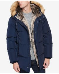 Marc New York - Glasnevin Quilted Parka With Faux-fur Lining And Trim - Lyst