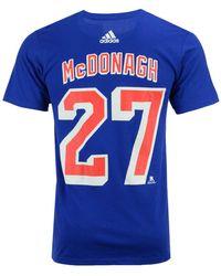 adidas - Ryan Mcdonagh New York Rangers Silver Player T-shirt - Lyst