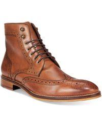 Johnston & Murphy - Men's Conard Wingtip Boots - Lyst
