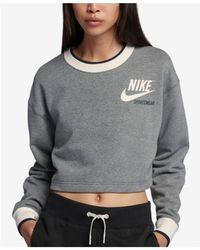 Nike - Sportswear Reversible Fleece Cropped Sweatshirt - Lyst