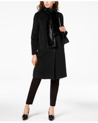 Jones New York - Walker Coat With Faux Fur Scarf - Lyst