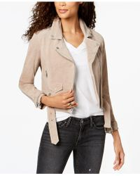 Marc New York - Suede Belted Moto Jacket - Lyst