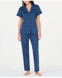 Sesoire - Printed Knit Cotton Pyjama Set - Lyst